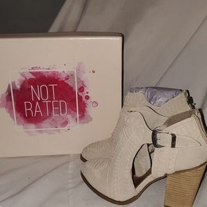 Never worn Not Rated Booties
